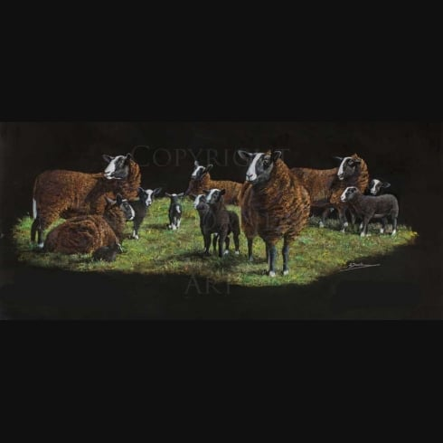 Angela Davidson Art Baa, Baa, Black Sheep...